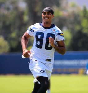 Andre Patton of the LA Chargers Does Yoga